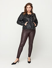 Zizzi - Faux Suede Jacket Plus Size Zipper Collar - lichte jassen - black - 4