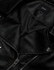 Zizzi - Biker Jacket Plus Size Zipper Pockets - skinnjackor - black - 3