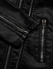 Zizzi - Biker Jacket Plus Size Zipper Pockets - skinnjackor - black - 4