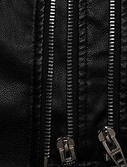 Zizzi - Biker Jacket Plus Size Zipper Pockets - skinnjackor - black - 5