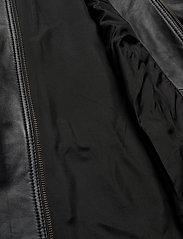 Zizzi - Leather Jacket Plus Size Pockets Zip Close-Fitting - skinnjackor - black - 7