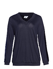 MMALLI, L/S, BLOUSE BOO - DARK BLUE