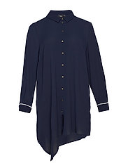 MMYA TANA, L/S, DRESS - DARK BLUE