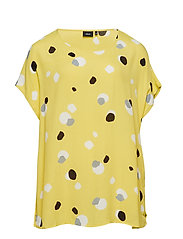 MKALEB, S/S, BLOUSE - YELLOW