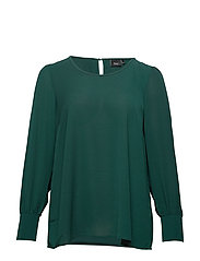 MPHILIA, L/S, BLOUSE - DARK GREEN