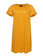 MALABAMA, S/S, ABK DRESS - YELLOW