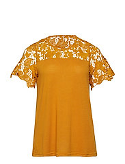 MJULIAN, S/S, TOP - YELLOW