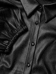 Zizzi - Shirt Immitation Leather Plus Size Puff Sleeves - overshirts - black - 2
