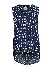 VVIGA SL, LONG BLOUSE - DARK BLUE