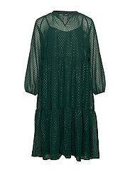 XDRIA, L/S , DRESS - DARK GREEN