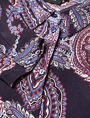 Zizzi - Dress Print Plus Size Long Sleeves Collar - alledaagse jurken - dark blue - 2