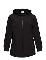 Softshell Jacket Water Repellent Soft and Warm - BLACK