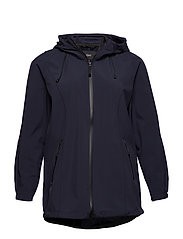 Softshell Jacket Water Repellent Soft and Warm - DARK BLUE