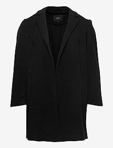 Jacket Collar Pockets Plus Size - light coats - black