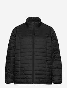 Jacket Quilted Plus Size Zip Pockets - forede jakker - black