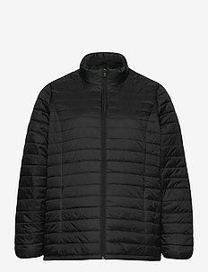 Jacket Quilted Plus Size Zip Pockets - dun- & vadderade jackor - black