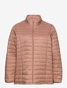 Jacket Quilted Plus Size Zip Pockets - forede jakker - rose