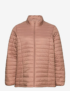 Jacket Quilted Plus Size Zip Pockets - dun- & vadderade jackor - rose