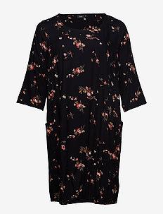 XMY AMY, 3/4, DRESS - BLACK