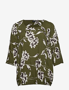 XMY AMY, 3/4, BLOUSE - ARMY
