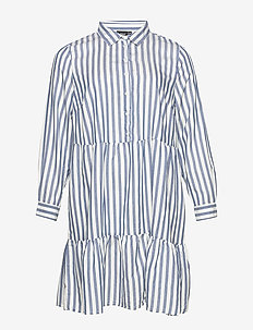 ELAPPY, L/S, BLK DRESS - shirt dresses - white