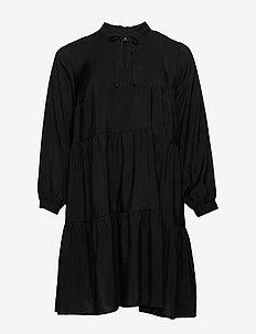 EANDREA, L/S, BLK DRESS - BLACK