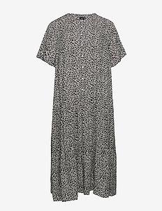 EAIMEI, S/S, BLK DRESS - BLACK