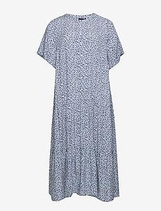 EAIMEI, S/S, BLK DRESS - BLUE