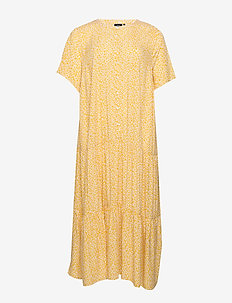 EAIMEI, S/S, BLK DRESS - YELLOW