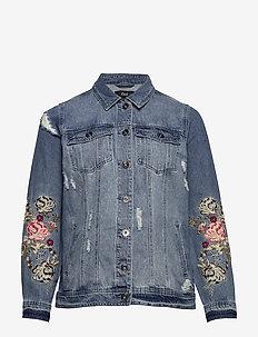 JCAMILLE, L/S, DENIM JACKET - jeansjakker - blue