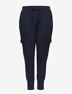 Maddison Trousers Plus Size Elastic Drawstrings Pockets - verryttelyhousut - dark blue