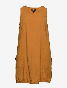 JHANNA, S/L, DRESS - korte kjoler - yellow