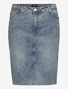 JSANDRA, BELOW KNEE, SKIRT - denim skirts - light blue