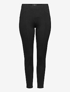 Leggings Stretch Plus Size - leggings - black