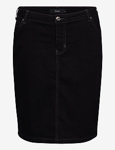 JCEDAR, KNEE-LENGTH, SKIRT - jeansrokken - black