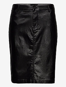 Skirt Sparkly Plus Size Close-Fitting Slit - midi skirts - black comb