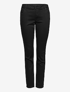 Sanna Jeans Plus Size Regular Waist Stretchy Dark - slim jeans - black