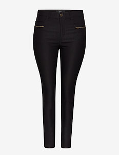 Trousers Plus Size Slim Fit Stretch - pantalons slim fit - black