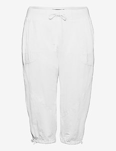 Knickers Cotton Plus Size Loose Fit - capri bukser - white