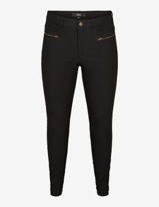 JEVA, LONG, SLIM PANTS - slim fit broeken - black