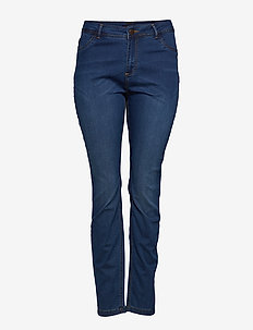 Nille Jeans Plus Size High Waist Slim Fit - skinny jeans - blue washed