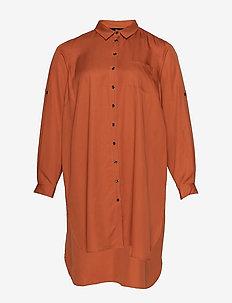 JACACIA, LS, SHIRT - long-sleeved shirts - dark orange