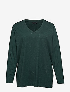 MCHLOÉ, L/S, T-SHIRT - t-shirty basic - dark green