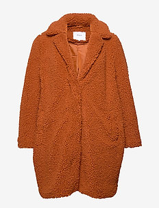 MTEDDY, L/S, COAT - GINGER BREAD