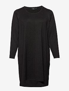 MSELLA, L/S, DRESS - BLACK