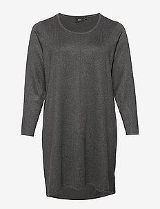 MSELLA, L/S, DRESS - DARK GREY