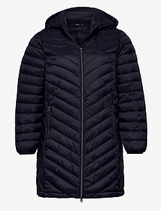 Jaccket Hood Plus Size Zip Dupont Quilted - padded coats - dark blue