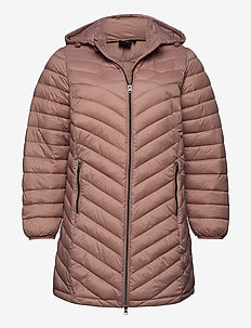 Jaccket Hood Plus Size Zip Dupont Quilted - padded coats - rose