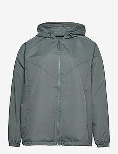 Jacket Plus Size Hood Zip Pockets - lichte jassen - dark green