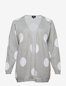 MMADOTTY, L/S, CARDIGAN - GREY